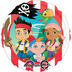 jake neverland pirates mylar balloon packaged